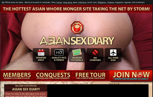 Asiansexdiary.com Mobile Accounts