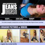 Jeans Orgasm Cash