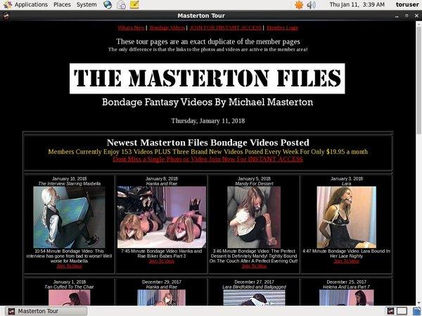 Login The Masterton Files Free