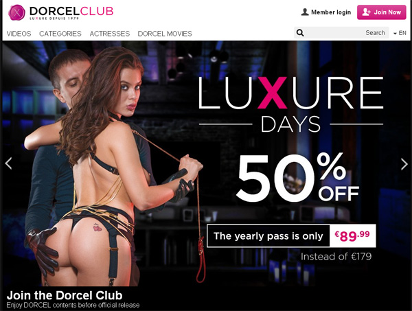 Dorcel Club Paypal Options