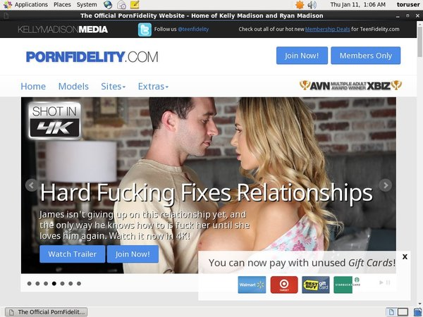 One Time Porn Fidelity Discount
