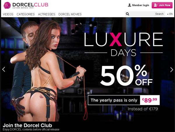 Working Dorcelclub.com Password